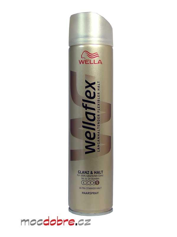 Wellaflex Shine & Hold lak na vlasy ultra silný - 250