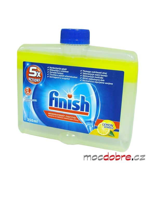 Finish 5x Actions Lemon, čistič myčky - 250ml