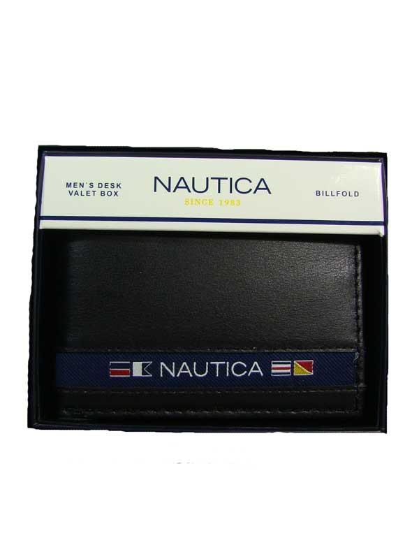 Nautica pánská kožená peněženka černá