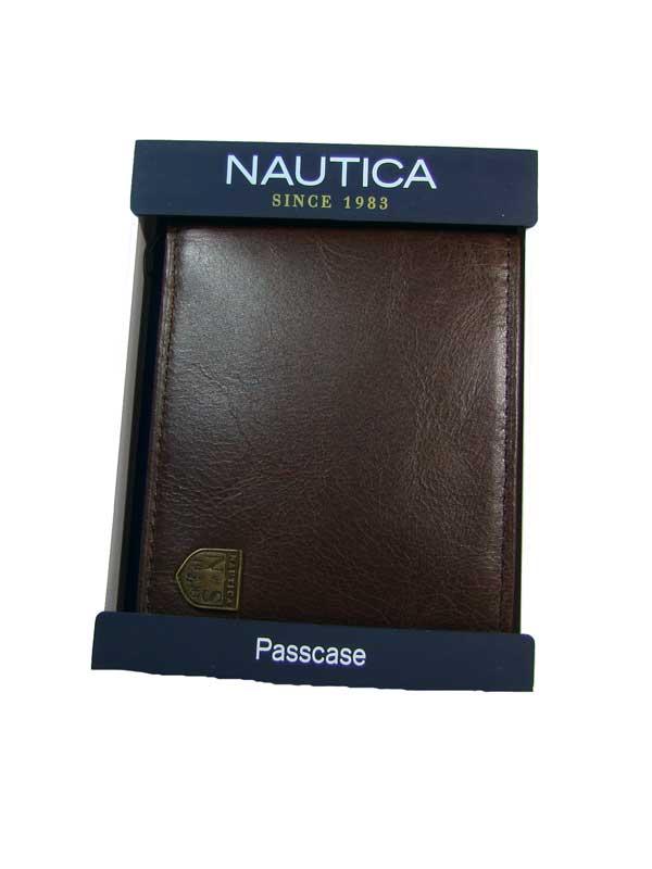 Nautica pánská kožená peněženka tmavě hnědá