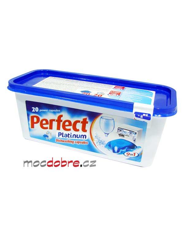 Perfect Platinum 9 in 1, mycí gelové kapsle do myčky