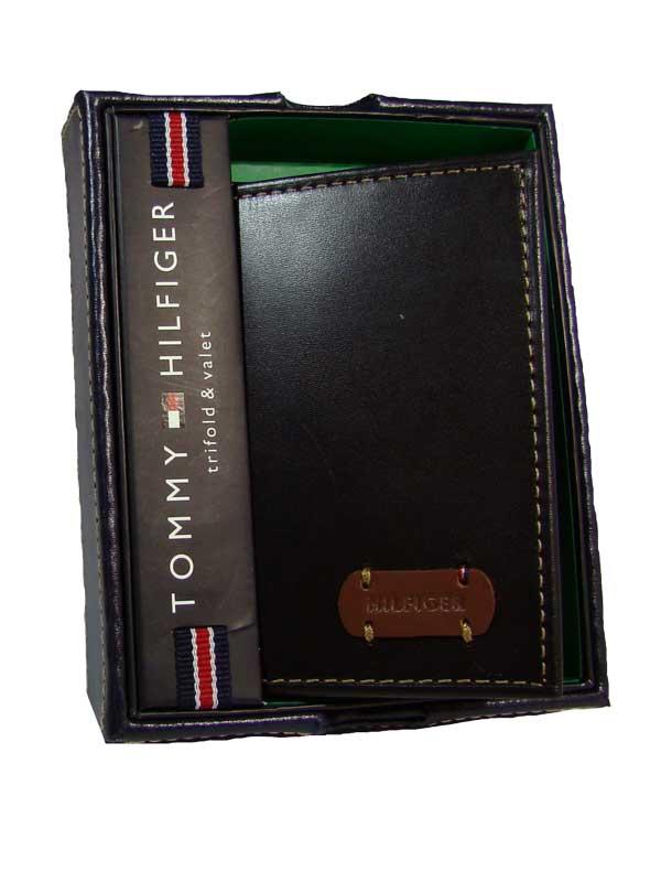 Tommy Hilfiger pánská kožená peněženka černá