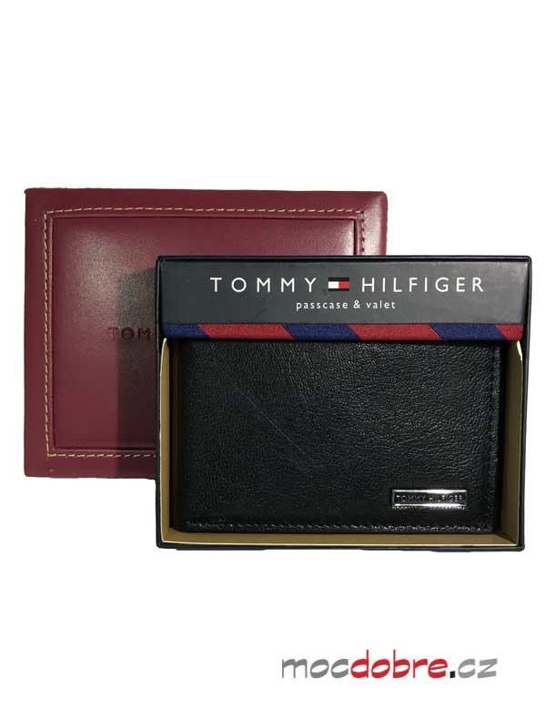 Tommy Hilfigger pánská kožená peněženka černá