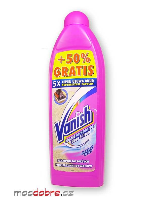 Vanish Clean & Fresh, čistič na koberce a čalounění -